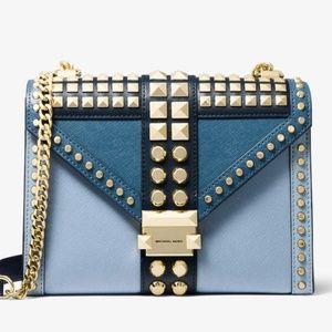 NEW Michael Kors Whitney studded chain strap Bag